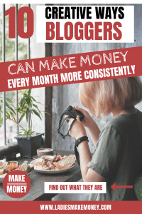 We came up with a few ways bloggers can make money online. We have amazing tips to teach bloggers how to make money online. Find out how to monetize your blog and make money full-time. How to become a full-time blogger and earn a full-time income online. Make money online using your blog #bloggingtips #makemoneyonline