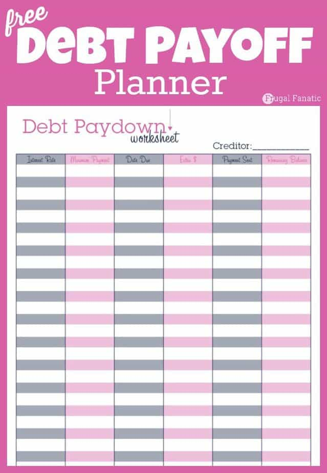 free debt payoff planner free printable family budget worksheets free printable budget template to