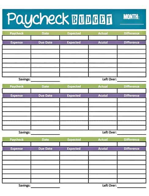 Modest image for budget planner printables