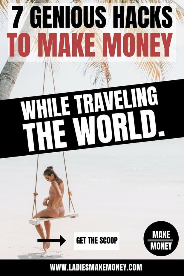 Get paid to travel the world. Are you looking for creative ways to make money while traveling? We have 7 hacks you can try today to make money while traveling. Find the best travel jobs available so you can earn money fast online. Learn how you can make money while you travel the world. #travel #makemoney #hustle #traveltips We have the best travel tips for you. #budgettravel #tipstravel #traveling #vacation #traveltricks