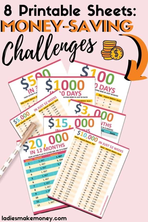 Money Saving Tips, then should try my 52 week money saving Challenge! Do you want to kickstart your saving habit? A money saving challenge can do just that! Improve your finances & track them with these printables!