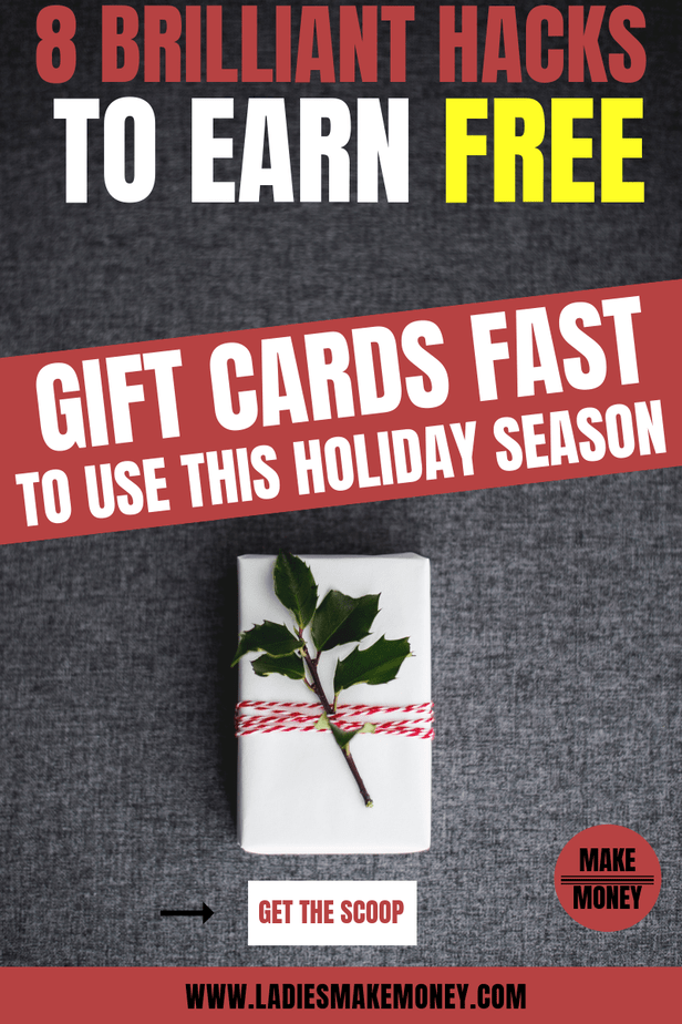 Want to learn how to get FREE gift cards fast to use towards your Christmas gifts? They are a ways you can get free gift cards for doing almost nothing at all! They're all legit ways to make a little extra money on the side without having to get a second job. Learn how to save money for Christmas this year. Learn how to start saving money for the holidays today #christmas #savemoney #christmasgiftideas