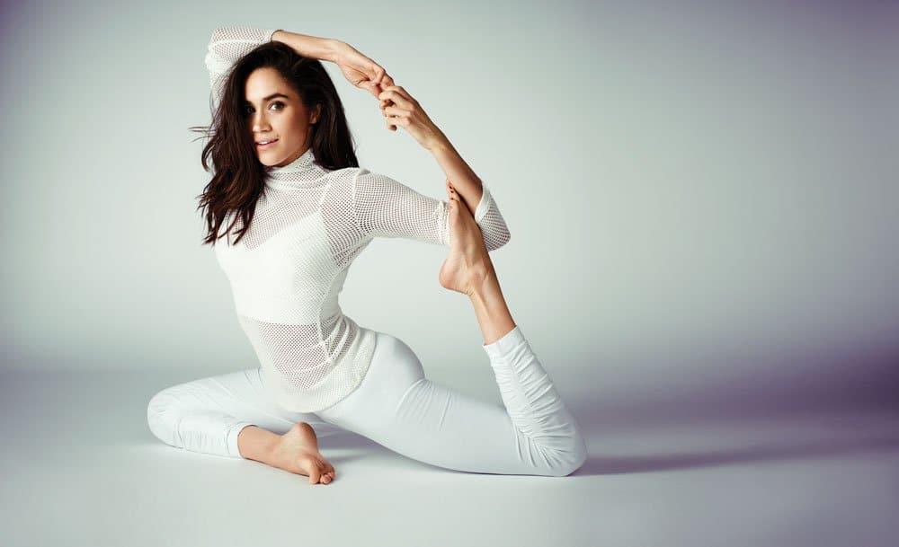 Practice self-care by working out. Meghan Markle does yoga.
