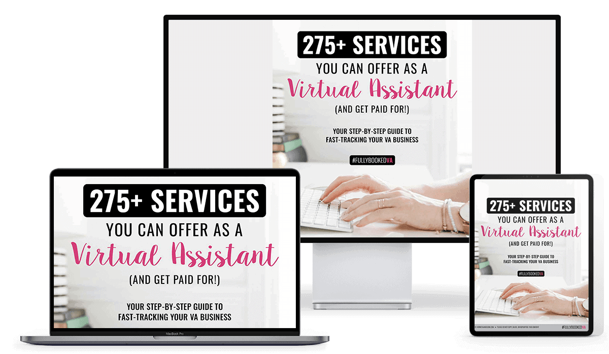 Here is a list of 275 services you can offer as a VA