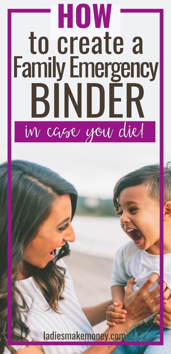 What if you die tomorrow? Would your husband know how to pay the bills or how to manage finances? This printable Emergency Binder is great in case of emergency. Learn how to organize important documents and get the free documents checklist for what to put in an emergency binder. You need this emergency preparedness tool! #emergencybinder #familybinder