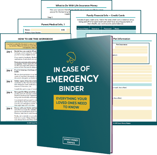 Here is how to build your own in case of an emergency binder also known as a grab and go. This 100 page PDF File is filled with all the in case of an emergency binder printables you can use to create your own emergency family binder. Use this checklist to create your own grab and go binder #familybinder #incaseofanemergencybinder
