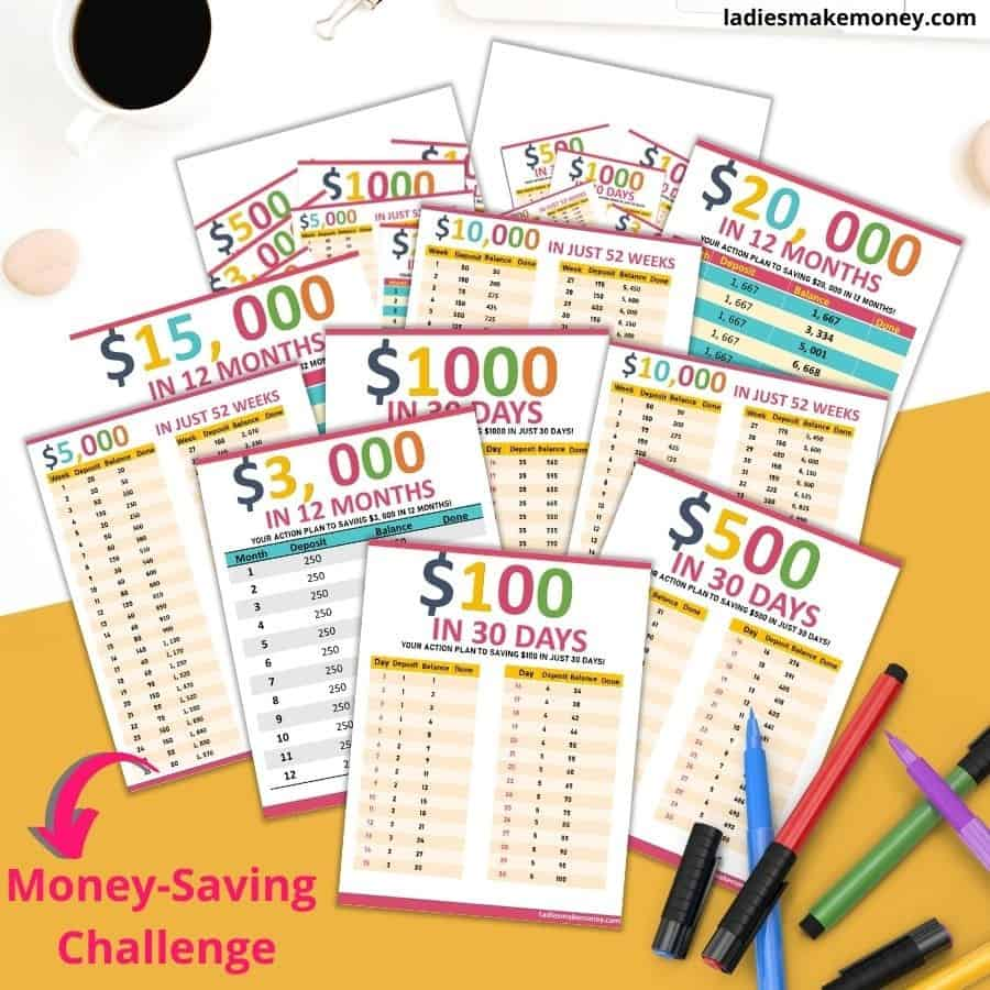 Money saving challenge to help you save money each month! Check out money saving challenge today!