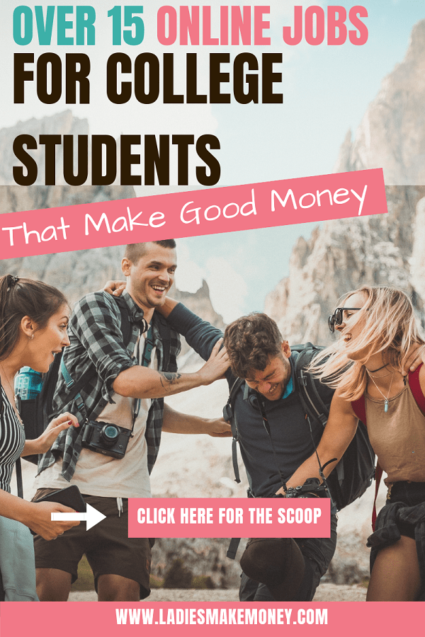 Are you a college student looking to make extra money? We came up with a massive list of online jobs for college students that you can do in your spare time easily. Grab this list of work from home opportunities so you can make extra cash while you are in college #workfromhome #collegestudents #students