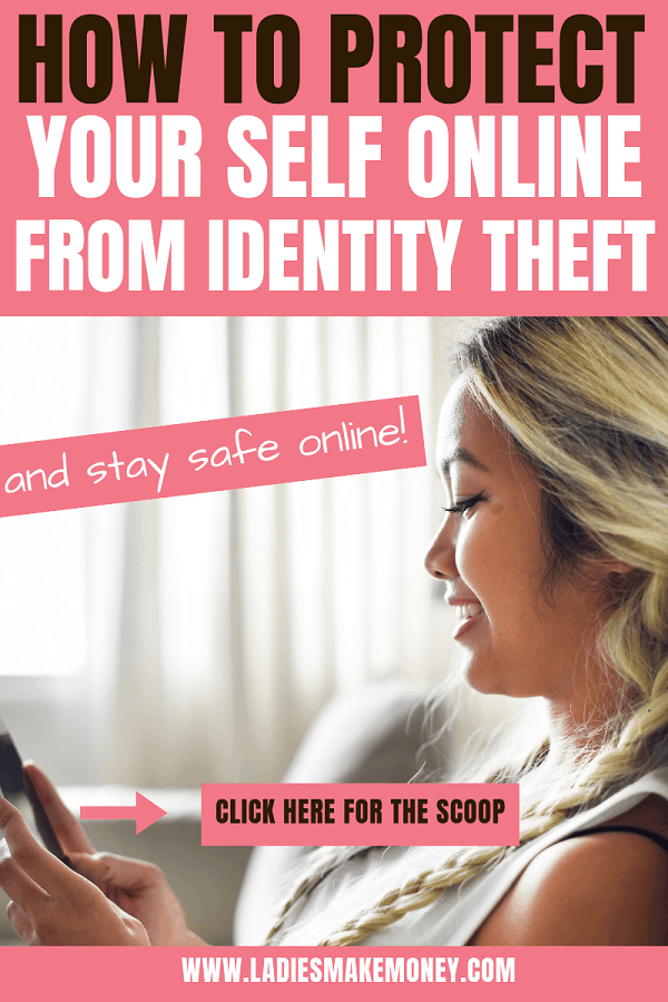 Learn how to protect your identity online and avoid online identity theft. Identity theft is huge and finding ways to protect yourself is crucial. Stay safe online using these tips. #identitytheft #onlinetheft