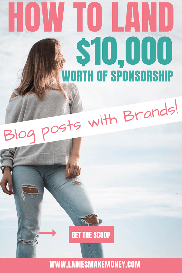 Here are tips on how to land sponsored blog posts and make money with your blog. Learn how How To Get Sponsored Post Opportunities With A Small Blog. #sponsoredblogs #makemoneyonline #bloggingtips