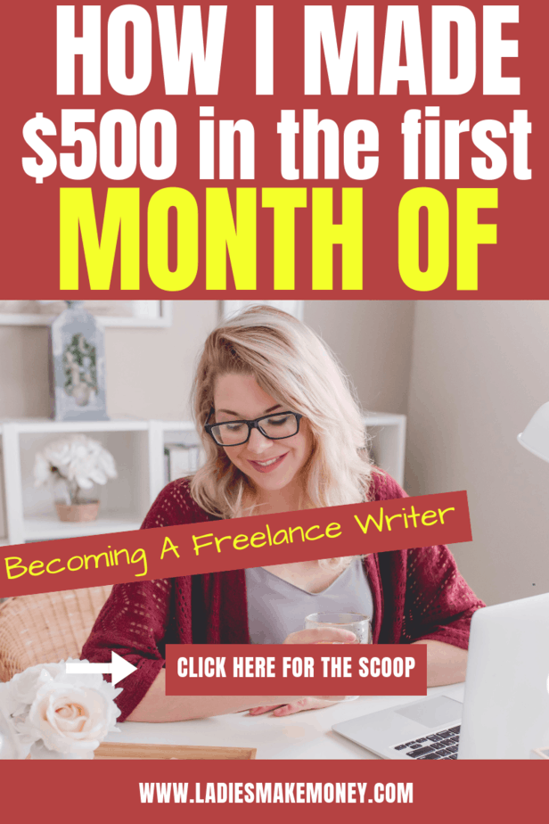 Becoming a freelance writer. Find out to make $500 as a freelancer and work from home. Get paid to write from home. #freelancewriter #becomingawrite Get paid to blog with out tips.