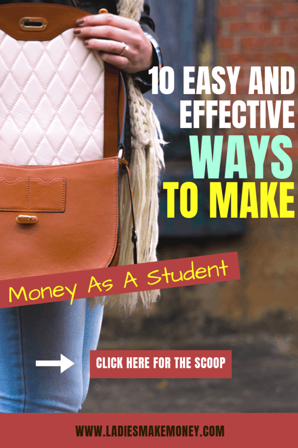 Here are a few ways to make money as a student. If you are a student that needs extra cash to pay off debt, you might want to look into ways to make money as a student. Start making extra money today! #makemoney #studentjobs