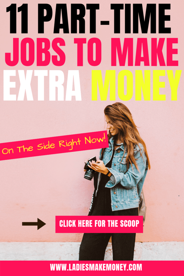 Looking for a few part-time jobs for extra cash? We have 11 amazing ideas to help you make money from home in your spare time. They are several part-time jobs you can do to make extra money from home. #parttimejobs #workfromhome