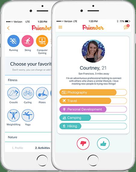The friender app - the making friends app