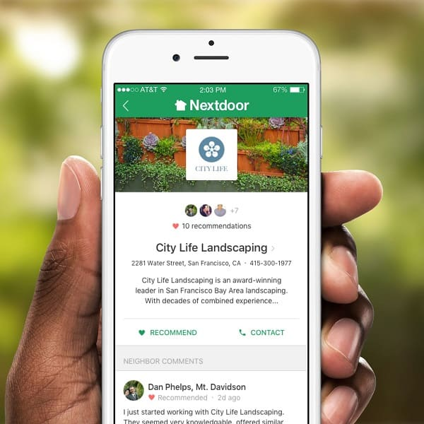 Connect with people in your neighborhood by using the nextdoor @nextdoorapp