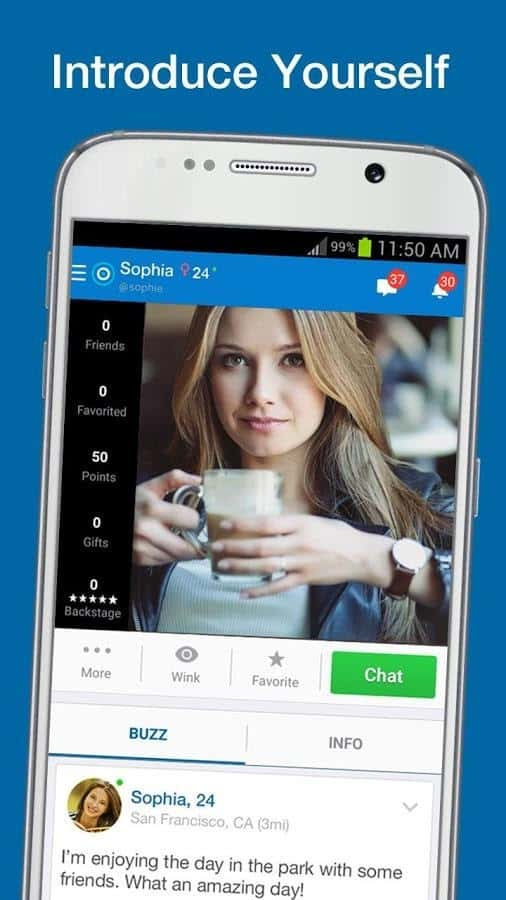 Make new friends with skout