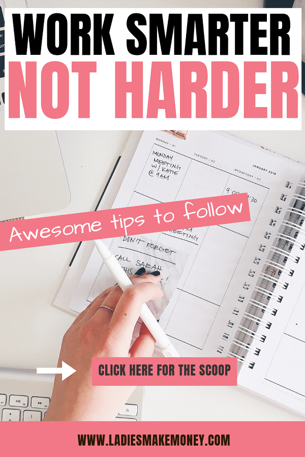 Here are a few ways to work smarter not harder in order to achieve better results. If you are looking for productivity tips to help you get better results, these tips will help you. Work smarter, not harder. #productivitytips #worksmart