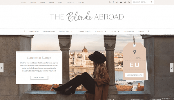 The Blonde abroad a travel blogger