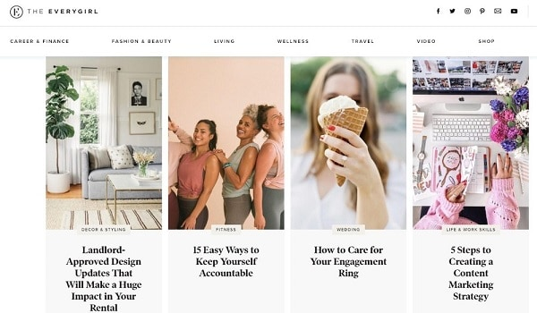 Lifestyle blogs for women. The everygirl focuses on bringing career tips, entrepreneurial tips to women #lifestyleblog