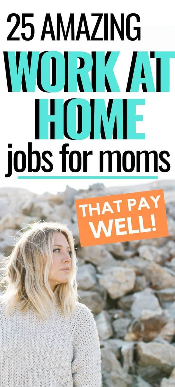 Legit Work At Home Jobs For Moms Who Love To Write! If you are a mom that is looking for a successful work from home job, look no further than this list! #workathome