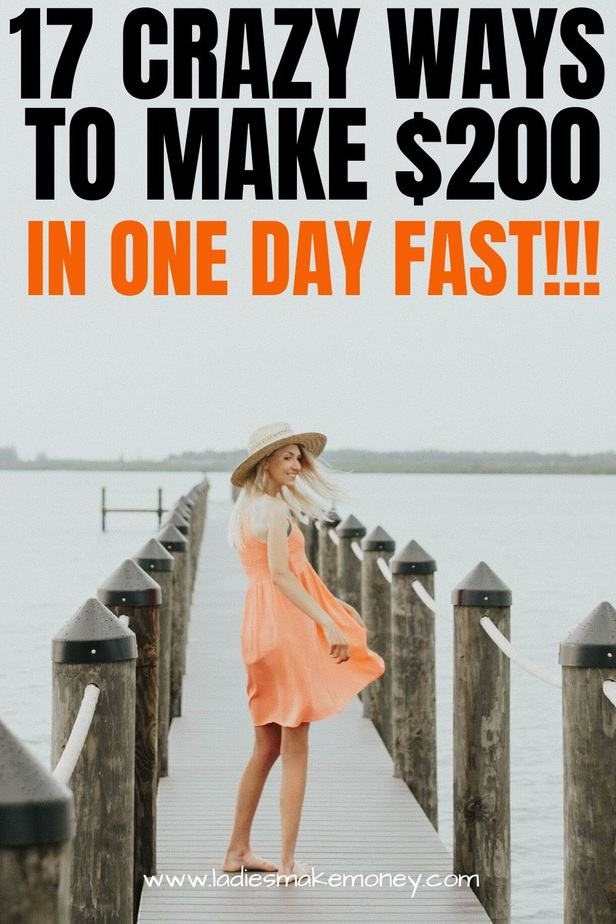 Learn the exact steps I use to make $200 in just one day. You can now make $200 fast using these 17 amazing side hustle ideas right now #makemoneyonline #makemoneyfast #moneytips