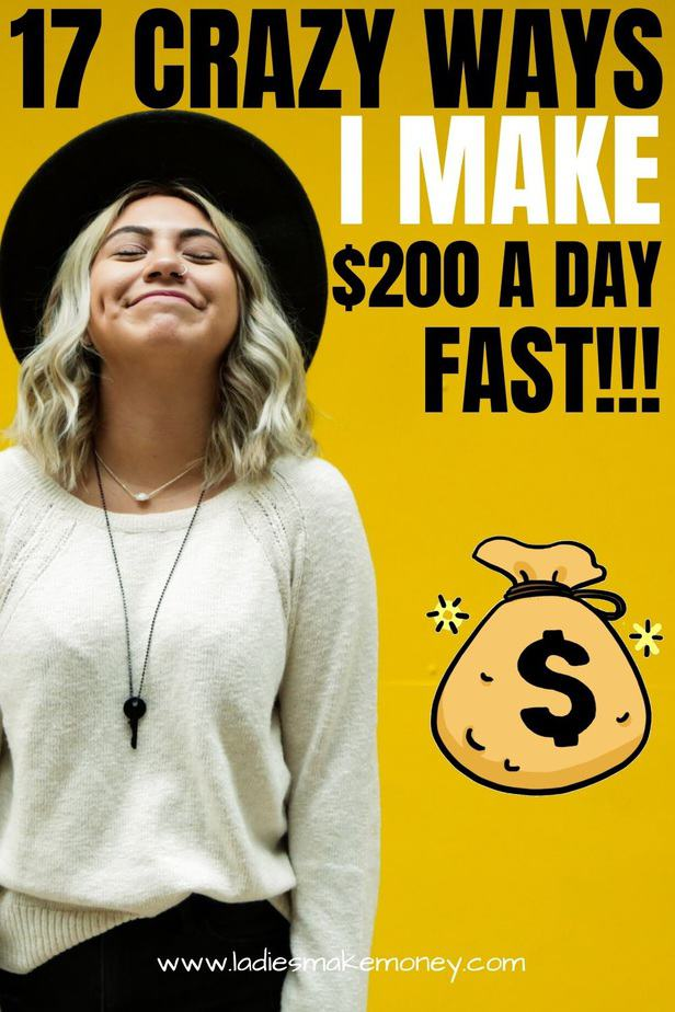 Are you looking for ways to make $200 in one day really quickly? We have over 17 ways to make $200 fast with little to no efforts. You can make money online working from home using our tips. Make extra money fast using these 17 easy strategies #workfromhome #makemoney #makemoneyonline #moneytips