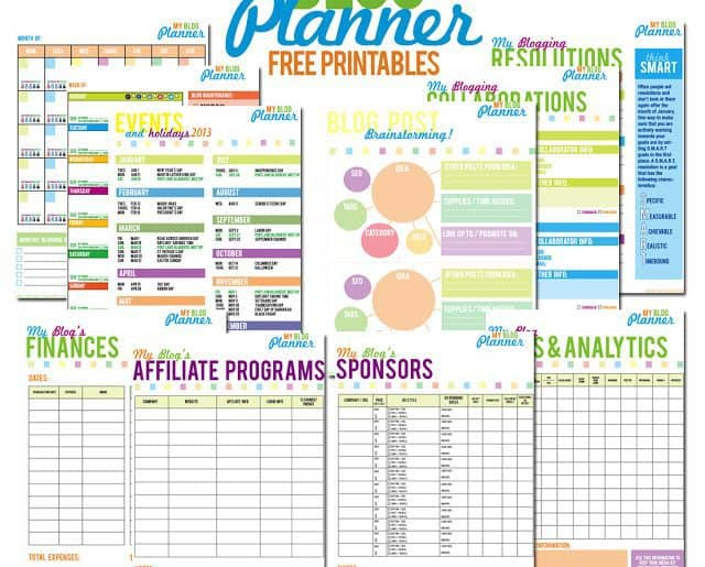 Free printable blog planner for bloggers to organize!