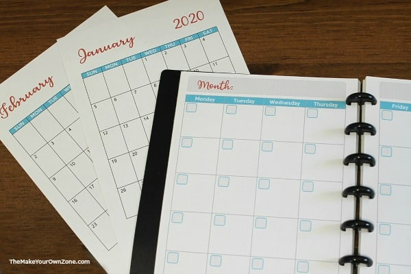 Planner pages for your blog