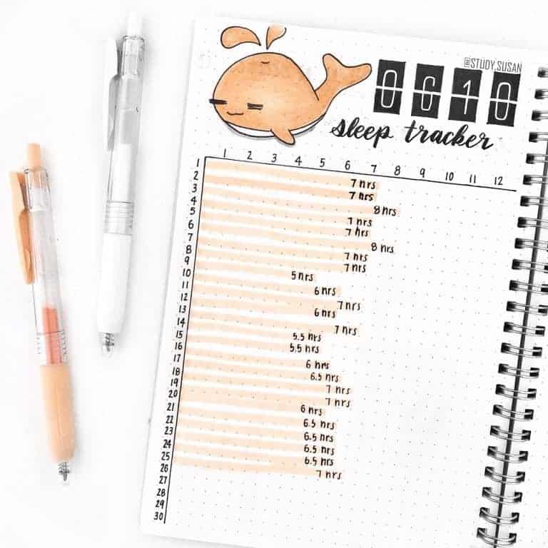 Easy Sleep tracker bullet journal idea! These are best sleep trackers out there~#sleeptracker