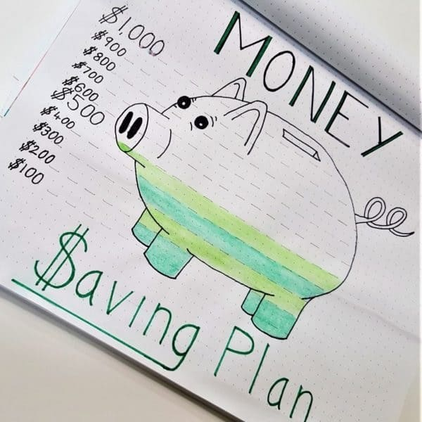 Check out this money saving habit tracker for all your saving habits! #savinghabits #savemoney