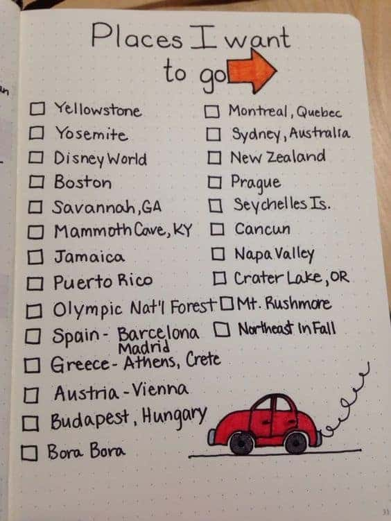 Track your bucket list today easily!