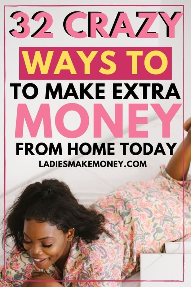 32 Realistic ways to make money working from home | Stay at Home Jobs | Ladies Make Money Online! Looking for ways to make a full time income working from home? Here are 32 ways you can do exactly that! This list of work from home jobs are high paying and perfect for you if you're a stay at home mom looking to make extra cash. No Experience Necessary! #workfromhome #workfromhomejobs #makemoneyonline #makemoneyfromhome #makemoneyathome #legitjobs #legitimateworkfromhomejobs