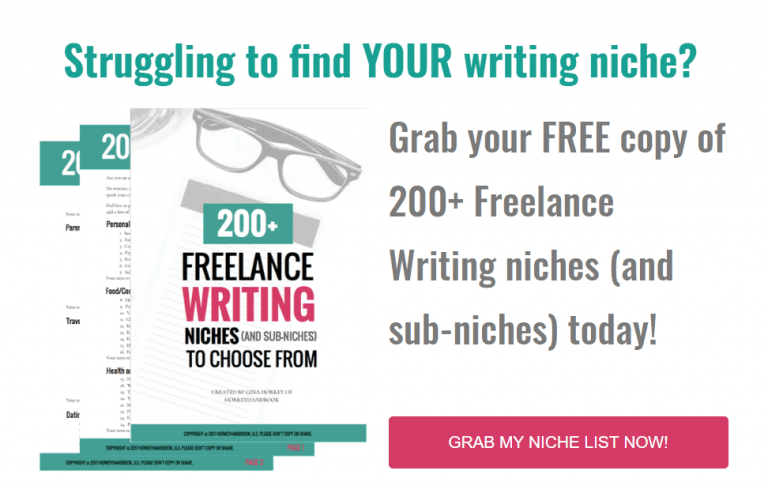 Freelance writing niches you can use to make money as a freelance writer! #freelancewriter