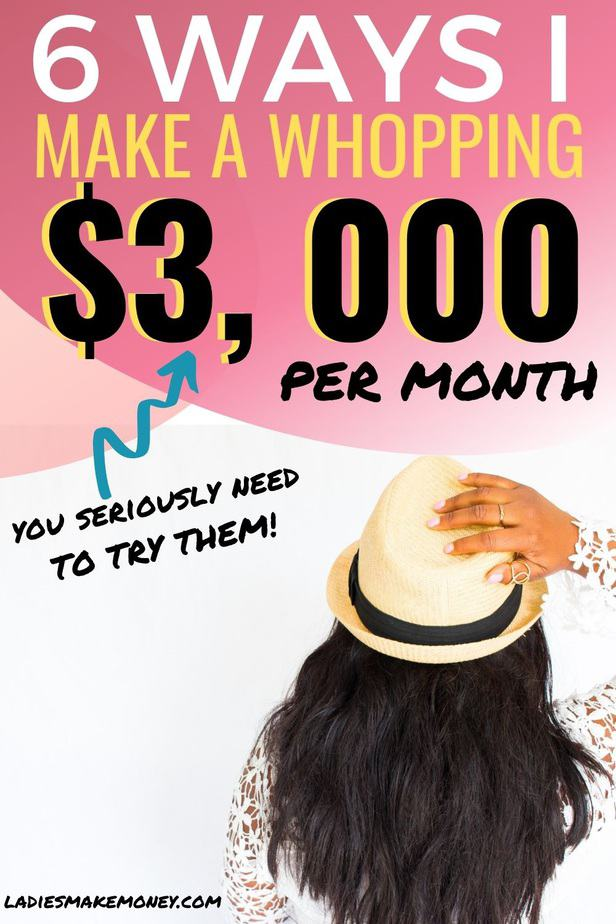 Are you looking for ways to make $300 a month? Here are 6 things I do to make 3000 per month from home effortlessly #make3000 #workfromhome #makemoneyonline