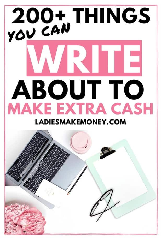 Did you know that you can make money writing online? If you are interested in becoming a freelance writer and you have no idea where to start, or where to find writing jobs, here is a list of things you can write about to make extra money from home #freelancewriter #afflink #ad