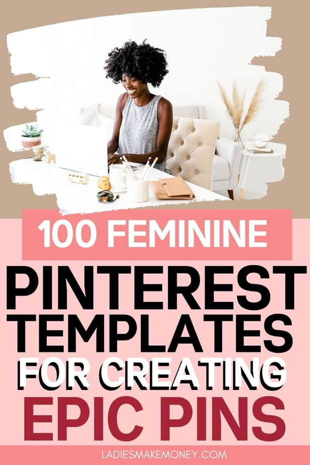 Feminine Canva Pinterest templates for Bloggers. feminine pinterest templates for Canva - these are fully customizable to match your brand - change the colors, fonts, images and more! All you need is a free Canva account to make pin design much easier and much faster! #pinteresttemplates #canvatemplates #pinterest #pindesign