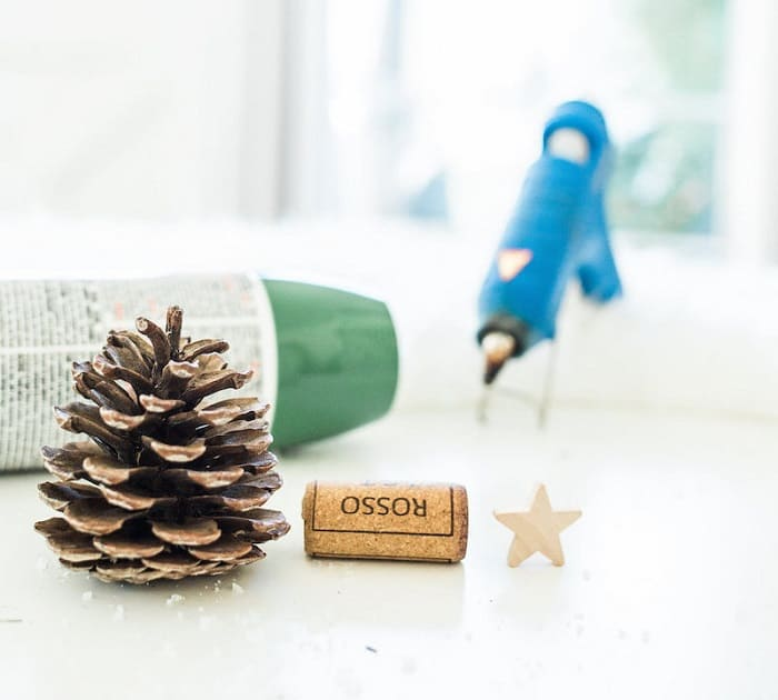 Wine Cork Christmas Tree Ornaments