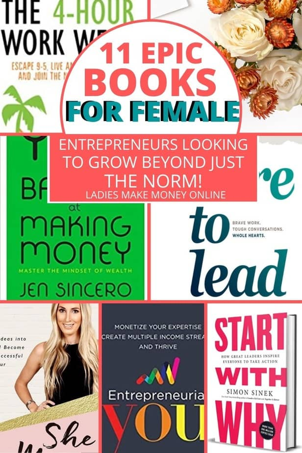 Here is a list of creative books for entrepreneurs! You know what they say- successful people never stop reading! Check out this list of AMAZING books that EVERY entrepreneur or small biz owner should read! Amazing Books Girlbosses should read! These girlboss books are amazing and should be . Ladies Make Money Online listed some of the Books for career woman #books #girlboss