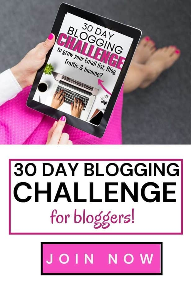 30-Day Blog Challenge! Grow your blog with our 30 day blog challenge!