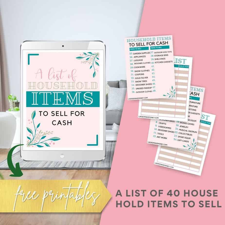 A list of household items you can sell for extra cash