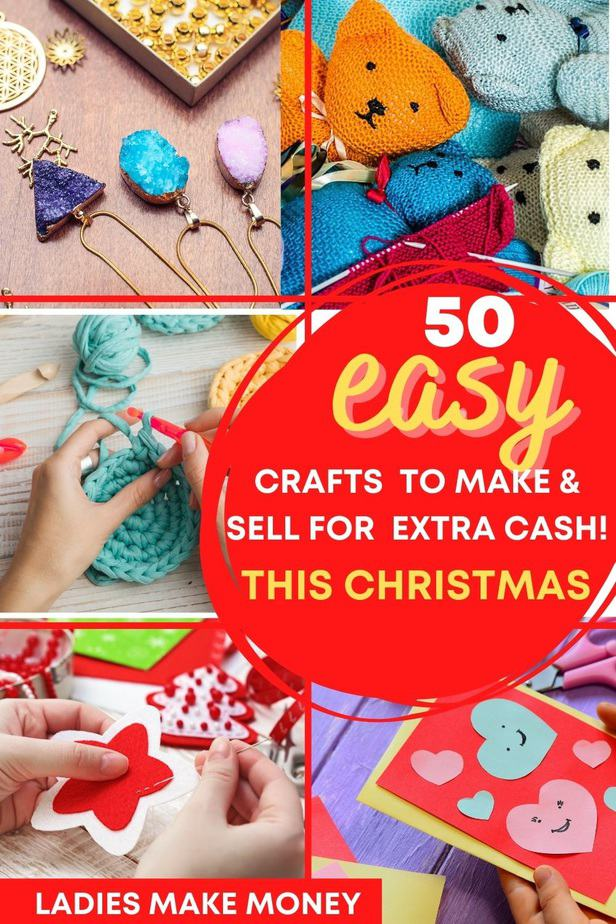 Easy to make crafts to sell and make for Christmas! Why not put your talents to good use and make some unique crafts to sell! These easy crafts to make and sell are perfect for selling online or at your local craft fair! Check them out!!