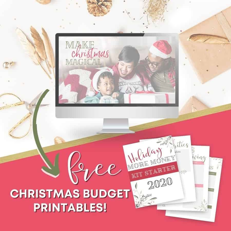 Holiday budget free kit for Christmas