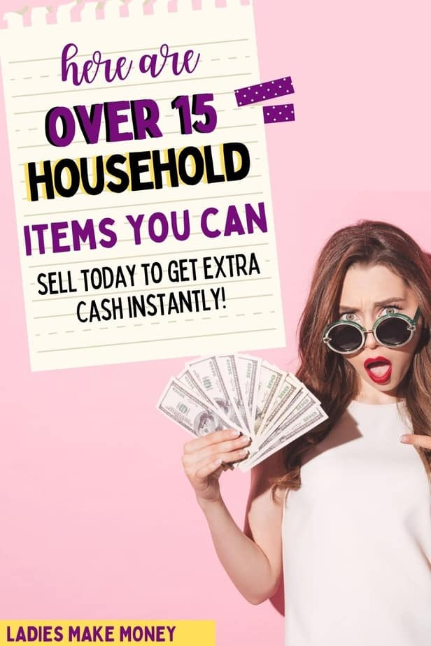 Need a little extra cash this month? See if you have any of these top 15 household items you can sell to quickly get the money you need! If you are wanting to make quick cash how about selling some household items? Here are 15 items you could sell for quick cash today.#extracash #makemoney