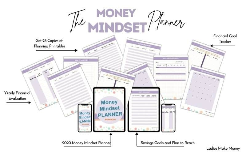 Here is a money mindset planner to help you get your financial situation in order today!