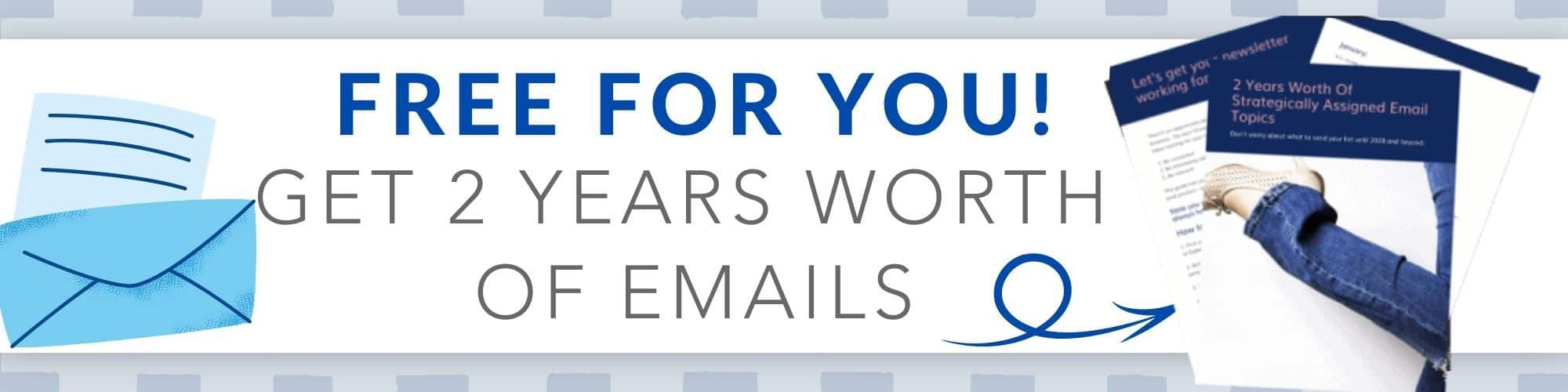 Here is a list of over 2 years worth of emails to send your email list this year.