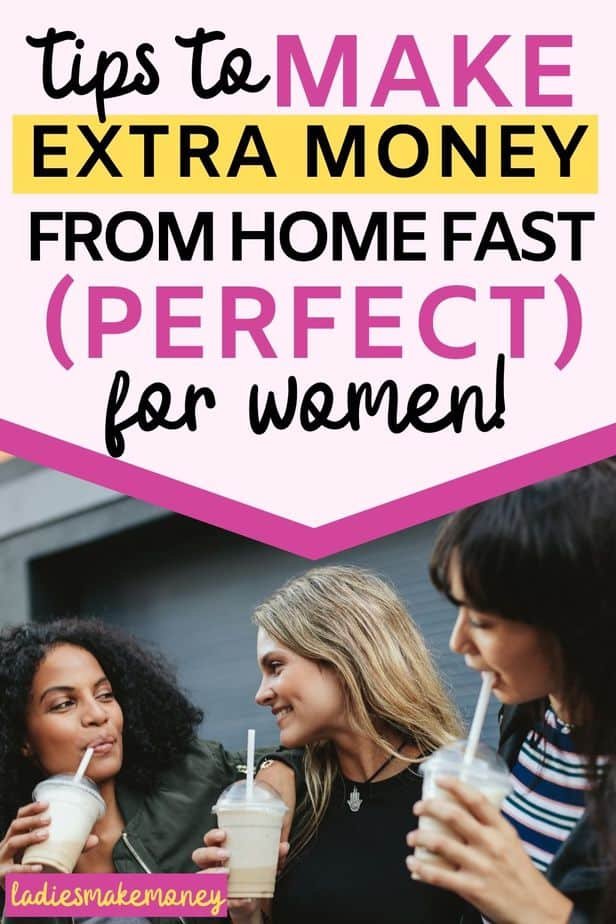 Ways for females to make money online. Here are creative side hustles for women to do from home!