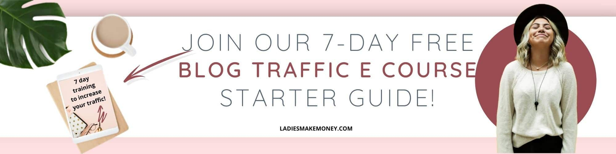 7 day blog traffic - Blog traffic ecourse!