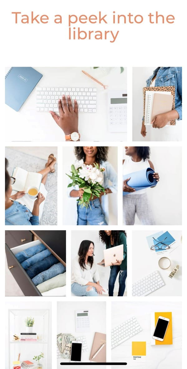 Free stock photos for bloggers! These feminine and styled images are perfect for Instagram and your website. Click to download gorgeous photos from over 17 different sites plus discover ideas for how to use these images to grow your business with examples. #stockphotos #freestockphotos #bloggingtips #blog #blogphotography
