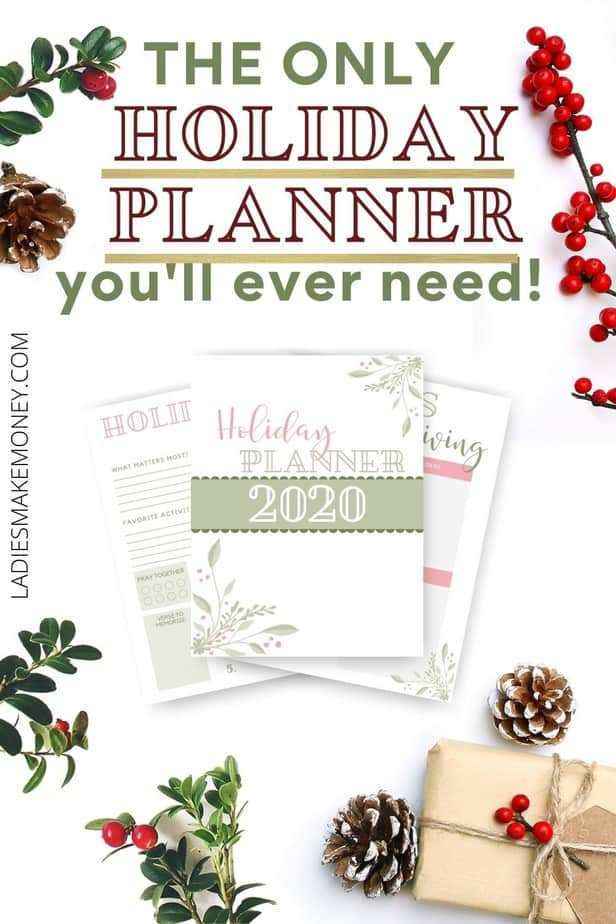 Christmas Planner (Free Printable Planner) | Ladies Make Money Online! A Printable Planner that's got all you need to stay organized the Christmas, like calendars, to-do lists, budgets, shopping lists, party planning and more. I know Christmas time can be stressful and overwhelming but I have a little something that is going to help with the stress of the season, I promise. Free Printable Christmas Planner!