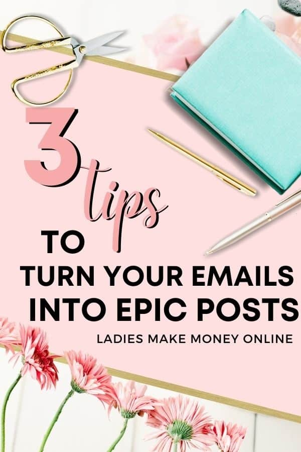 Tips to turn your emails into epic blog posts! How to Repurpose Content and Make the Most of Your Marketing Turn your blog posts into emails, videos, social messages, slide decks, content upgrades, e-books, courses.